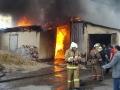 Пожарный расчет за работой